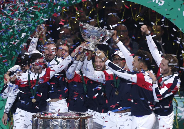 France edges Belgium to win Davis Cup for the first time in 16 years