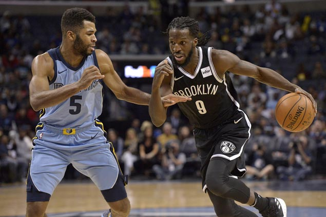 DeMarre Carroll scores season-high 24 as Nets down sloppy Grizzlies to halt three-game slide