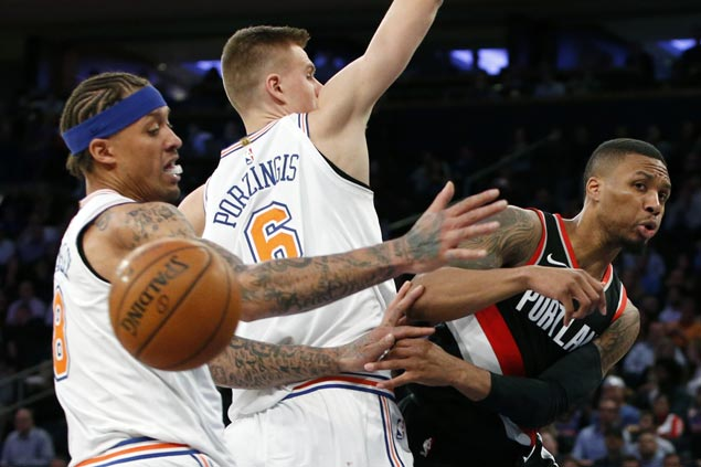 Trail Blazers down Knicks to finish five-game road trip with three straight wins
