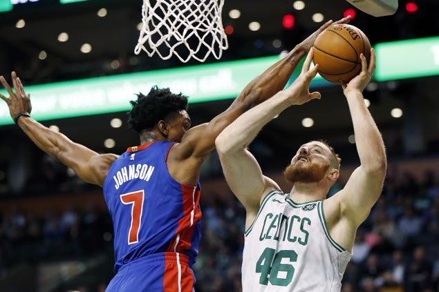 Pistons make it back-to-back wins, ends Celtics' win run at two