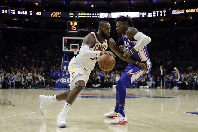 LeBron James shows upstart Sixers how far they still have to go as Cavs shift into high gear