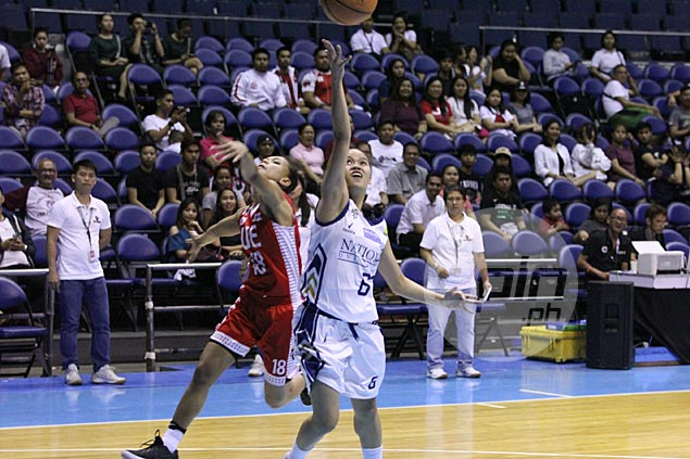 Trixie Antiquera scores 30 as National U rips UE in Game One of UAAP women's basketball finals