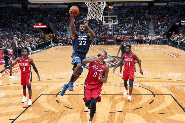 Andrew Wiggins powers Timberwolves to victory over Pelicans as Anthony Davis gets ejected