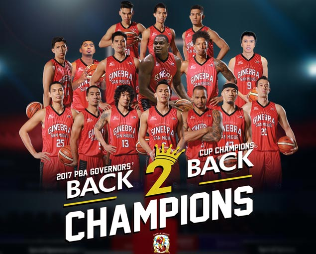 Barangay Ginebra gives fans a treat after back-to-back championships