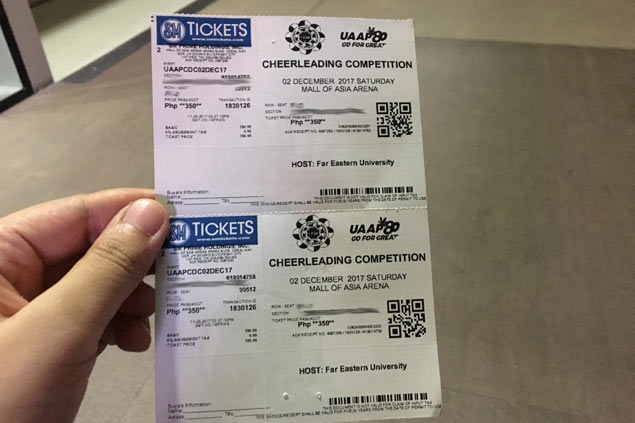 Scalpers once again make a killing amid high demand for UAAP Cheerdance tickets