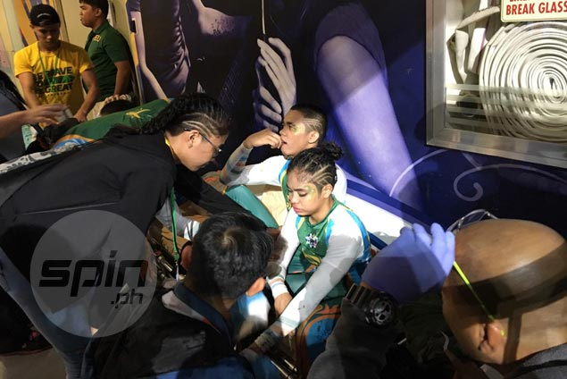 Two FEU Cheering Squad members suffer minor injuries in UAAP Cheerdance Competition