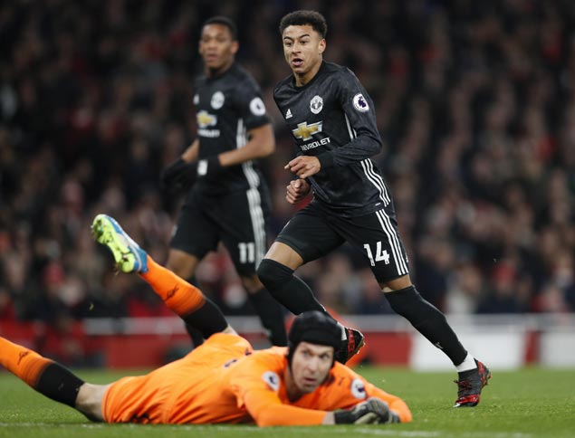 Jesse Lingard nets brace, David de Gea shines in goal as United downs Arsenal