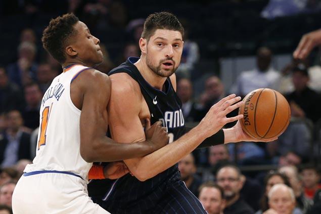 Nikola Vucevic sparks late blitz as Magic turn back shorthanded Knicks