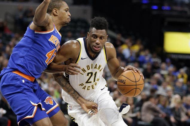 Thaddeus Young leads Pacers balanced attack in blowout win over skidding Knicks
