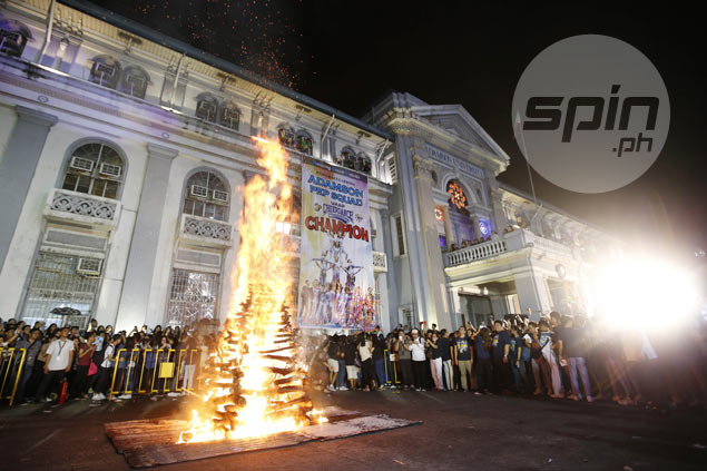 Adamson Pep Squad gets rock-star treatment as Cheerdance champs honored in bonfire party
