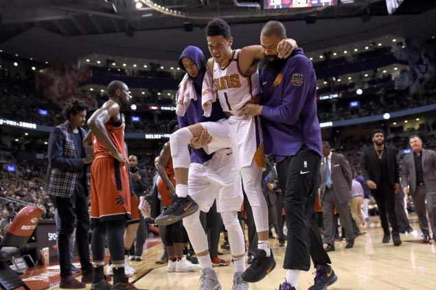Groin injury grounds Suns rising star Devin Booker for at least two to three weeks