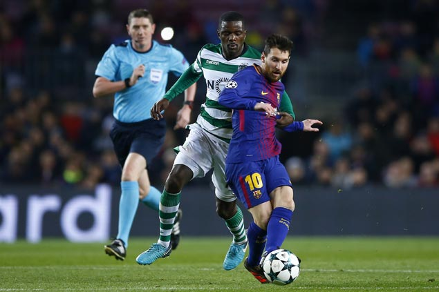 Lionel Messi comes off bench anew as Barcelona downs Sporting Lisbon in Champions League