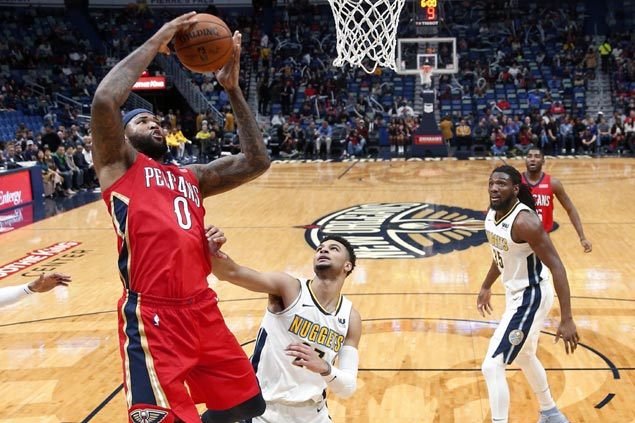 DeMarcus Cousins dominates shorthanded Nuggets as Pelicans get back on win track