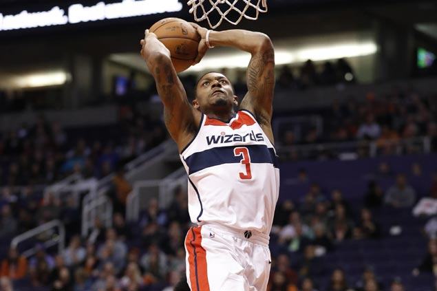 Bradley Beal sustains fiery form, powers late blitz to lift Wizards over skidding Suns