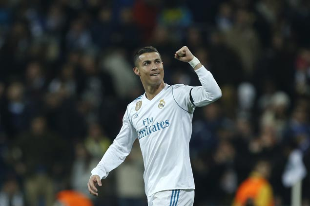 Cristiano Ronaldo matches rival Lionel Messi's feat in winning fifth Ballon d'Or award