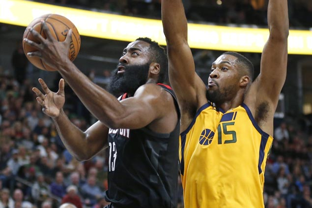 Rockets pull away in the third to cruise past Jazz for eighth straight win