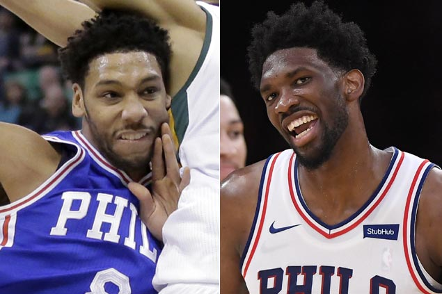 Embiid jabs at ex-Sixer Okafor after trade: 'I made sure to let him know I was going to kick his (rear)'