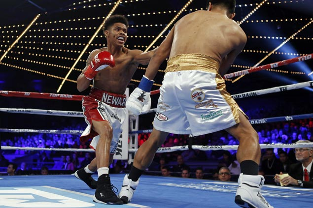 Shakur Stevenson makes short work of Oscar Mendoza to keep record unblemished