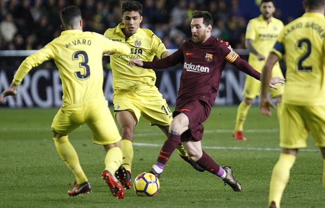 Lionel Messi, Luis Suarez take full advantage for Barca as Villarreal gets reduced to 10 men