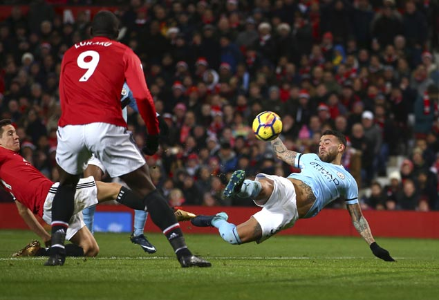 City downs United in Manchester Derby to set Premier League record 14 straight wins