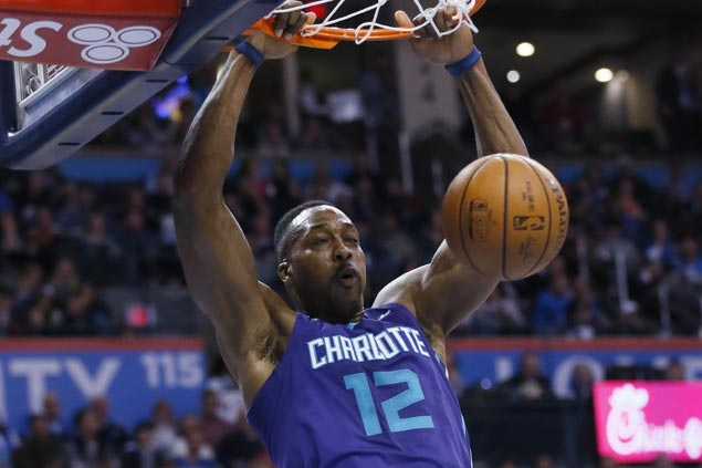 Dwight Howard takes charge as Hornets down Thunder to spoil Paul George return from injury
