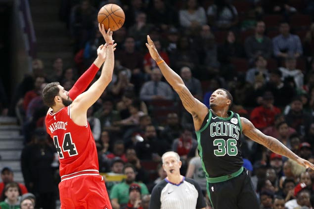 Nikola Mirotic shows way as Bulls rip Celtics side missing Kyrie Irving
