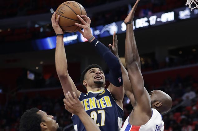 Undermanned Nuggets get back on track, send Pistons to seventh straight loss