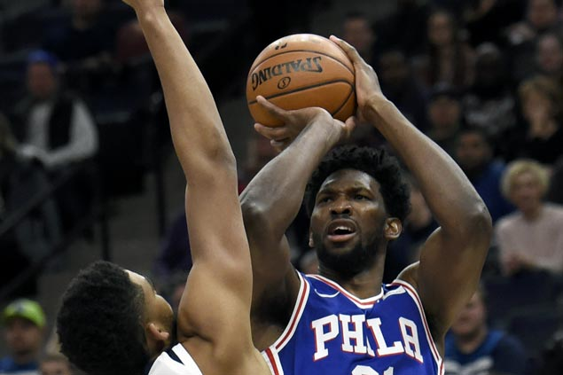 Joel Embiid returns and Sixers overcome Timberwolves in overtime