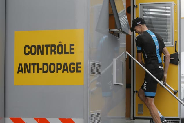 Four-time Tour de France winner Chris Froome found to have elevated levels of asthma drug