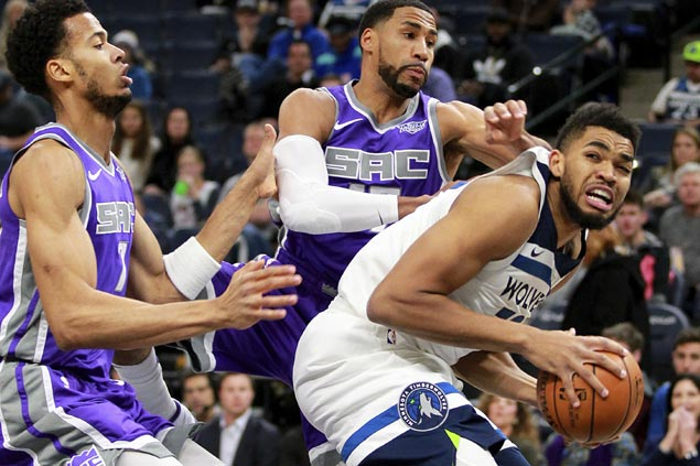 Karl-Anthony Towns bounces back strong with dominant performance in Wolves romp vs Kings