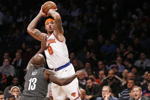 Knicks overcome Porzingis early exit, Nets late rally to roll to third straight win