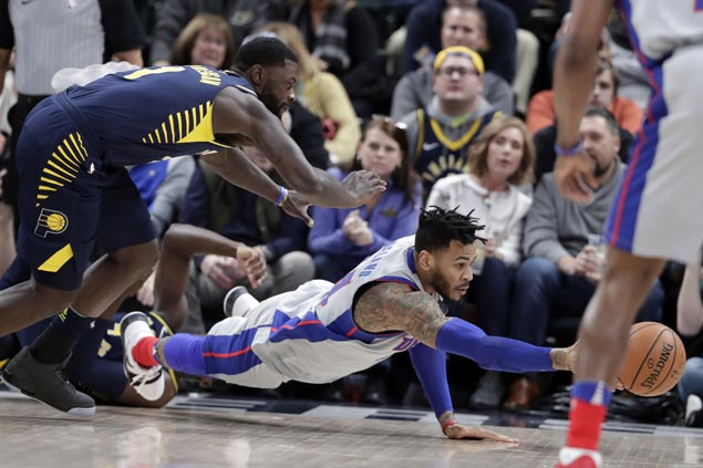 Pistons overcome late Pacers rally to post second win in as many nights