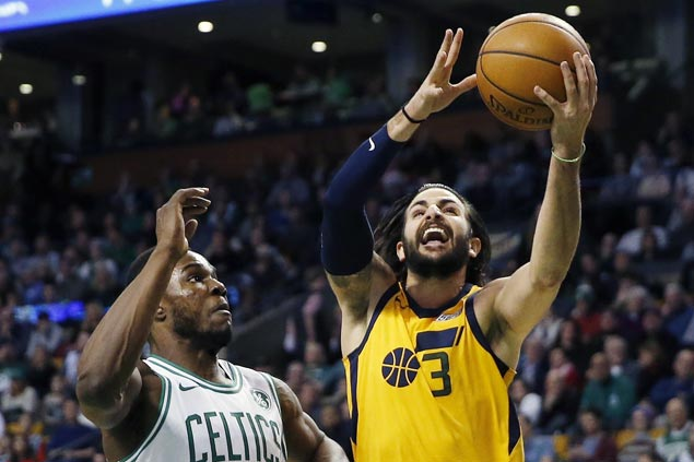 Ricky Rubio shows way as Jazz down Celtics to snap four-game skid