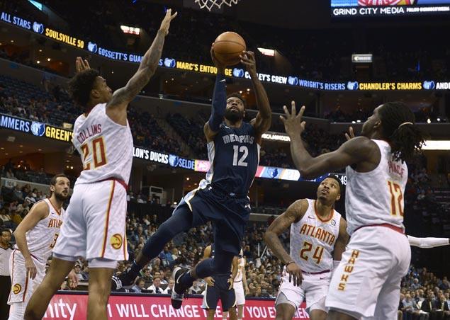 Tyreke Evans nails go-ahead basket as Grizzlies nip Hawks to halt five-game slide