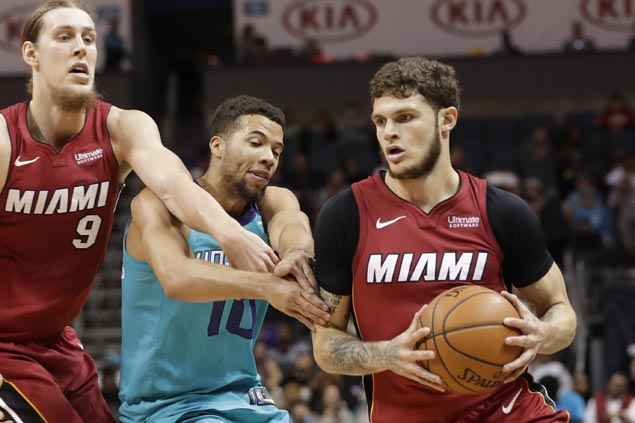 Heat find spark from reserves Tyler Johnson, Wayne Ellington to hold off skidding Hornets