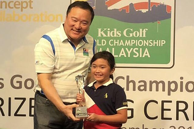 Celine Abalos earns berth to US Kids Golf Championships in North Carolina and Scotland