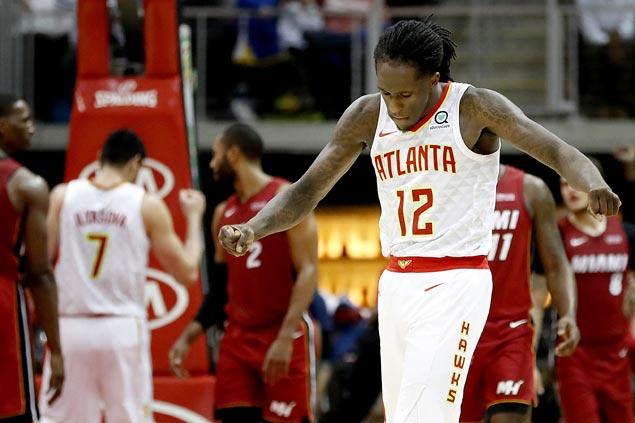NBA-worst Atlanta Hawks get a big win over injury-riddled Heat