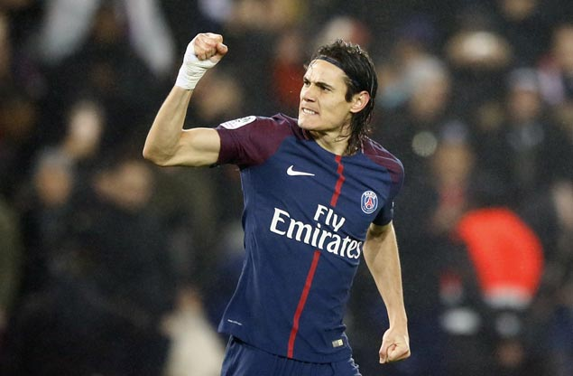 Edinson Cavani now just a goal behind Zlatan Ibrahimovic's record as PSG downs Caen