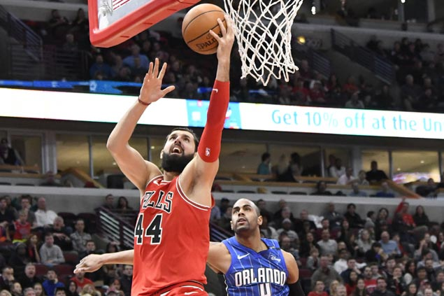 Double-doubles by Nikola Mirotic, Denzel Valentine power Bulls past Magic for seventh straight win