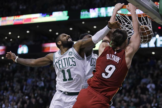 Kelly Olynyk makes winning return to Boston, scores career-high 32 to power Heat past Celtics