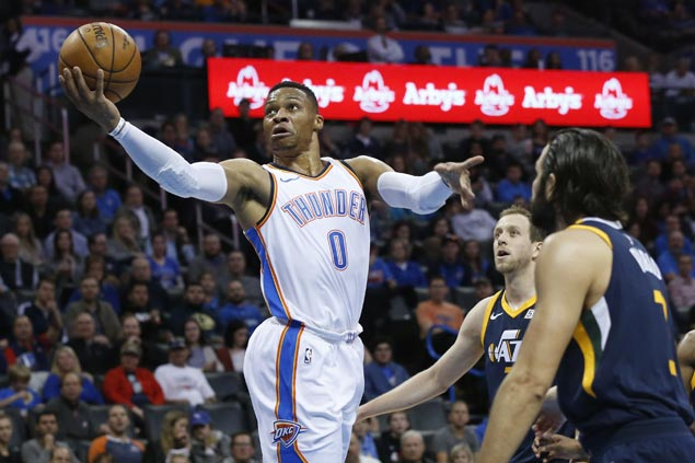 Thunder get off to sizzling start and ease to victory over Jazz