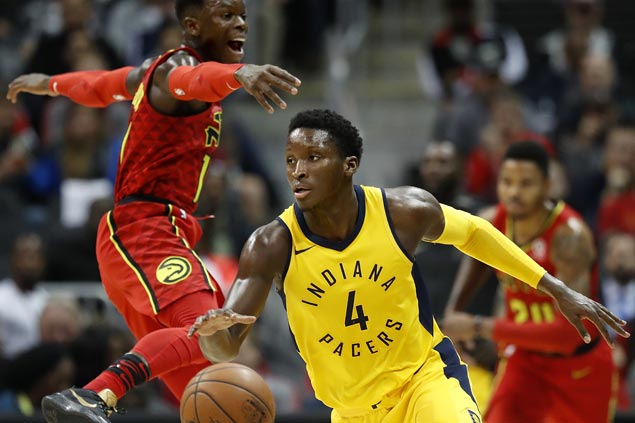 Victor Oladipo leads way as Pacers recover from sluggish start to defeat lowly Hawks