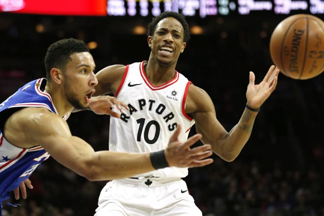 DeRozan caps career-high 45 with late takeover as Raptors rally from 22 points down to sink Sixers