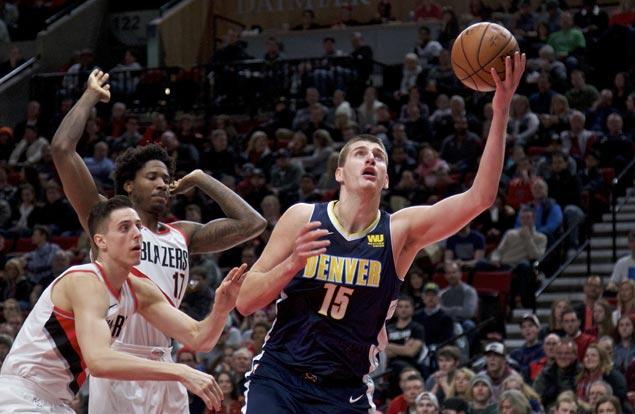 Nikola Jokic shows way as Nuggets down Blazers to end long run of futility in Portland