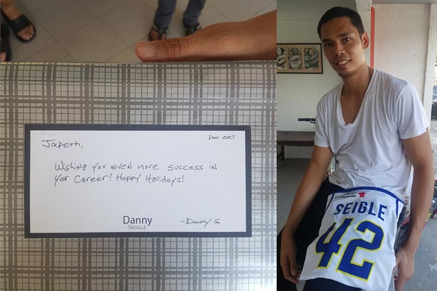 Japeth Aguilar's wish granted as Danny Seigle jersey arrives on Christmas Eve
