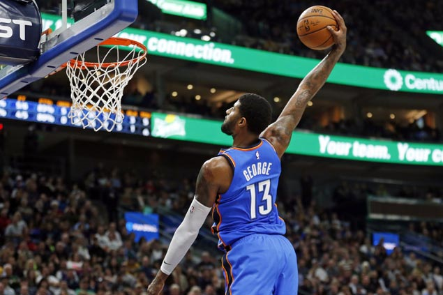 OKC Big Three too strong for Jazz as Thunder make it four straight wins