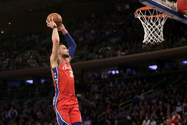 Sixers halt five-game slide with victory over Knicks in first Christmas Day appearance since 2001