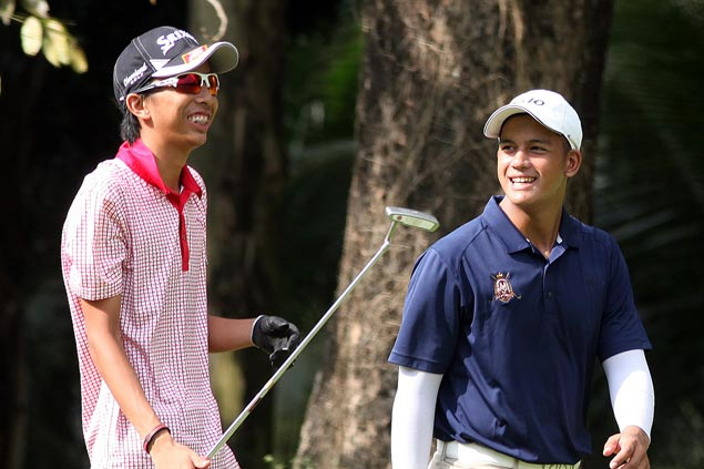Ryan Monsalve, Lanz Uy set sights on overall title after topping Group I last year in Nat'l Doubles Golf