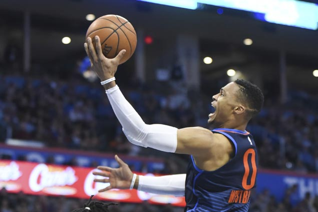 Thunder stretch win streak to five and send Rockets to third straight loss