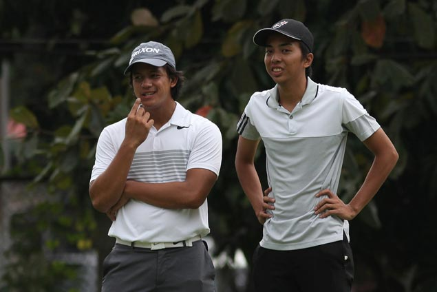 Lanz Uy, Ryan Monsalve set pace with 59 in National Doubles Golf Championship at Aguinaldo